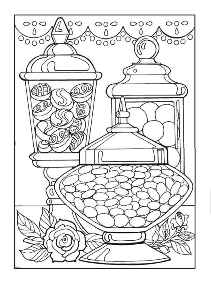Free Printable Candy Coloring Pages