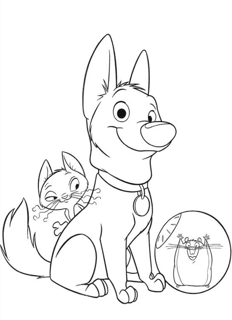 Free Printable Cartoon Coloring Pages Bolt
