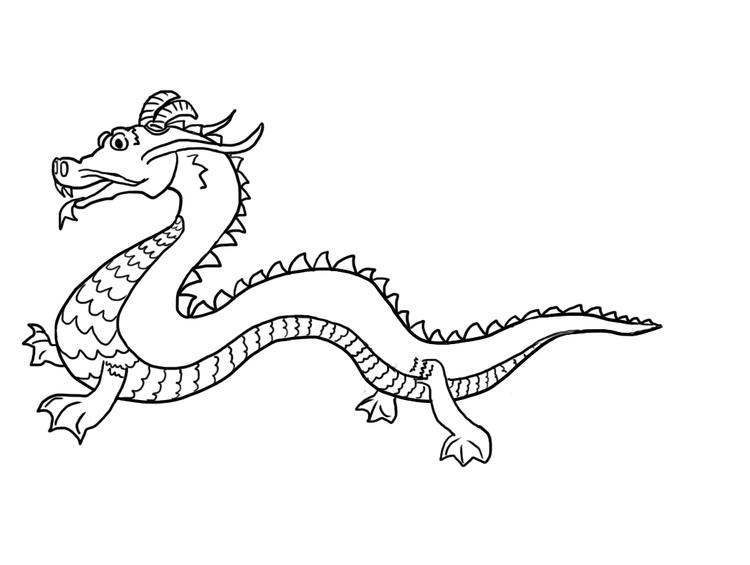 Free Printable Chinese Dragon Coloring Pages For Child
