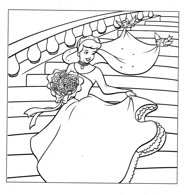 Free Printable Cinderella Coloring Pages For Kids 2