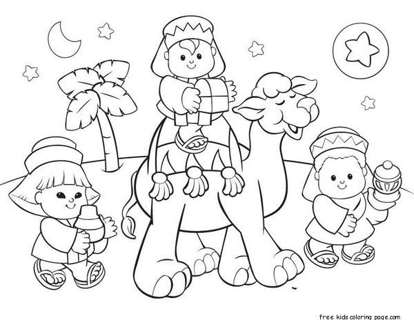 Free Printable Coloring Christmas Picture Of Wise Men