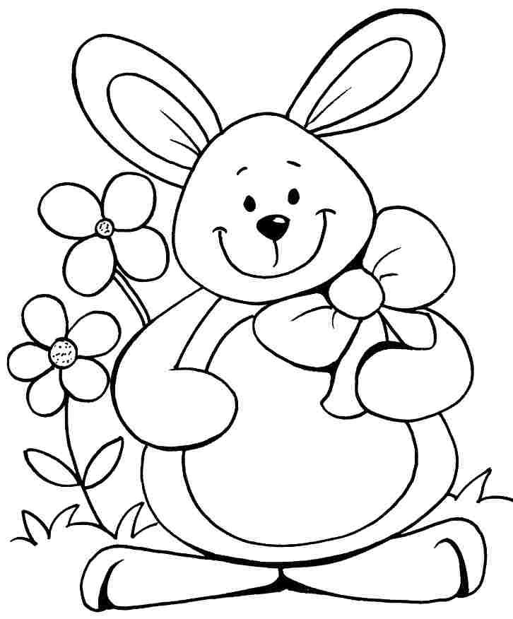 Free Printable Coloring Pages Animal Bunny For Preschool