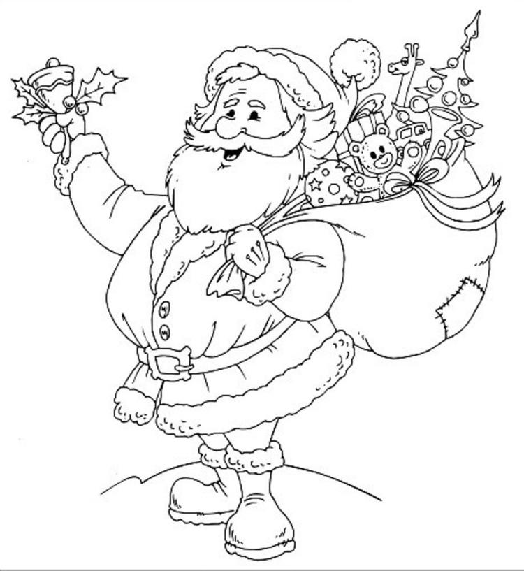 Free Printable Coloring Pages For Christmas Santa