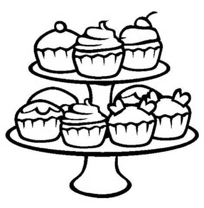 Free Printable Cupcake Coloring Pages For Kids 1