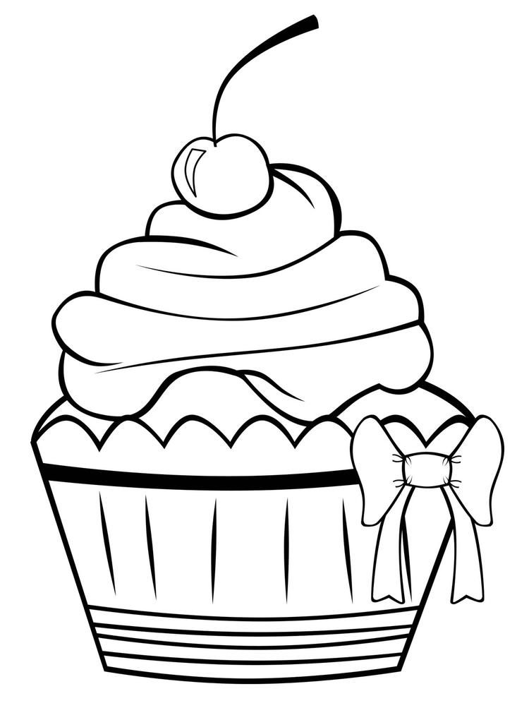 Free Printable Cupcake Coloring Pages For Kids 2