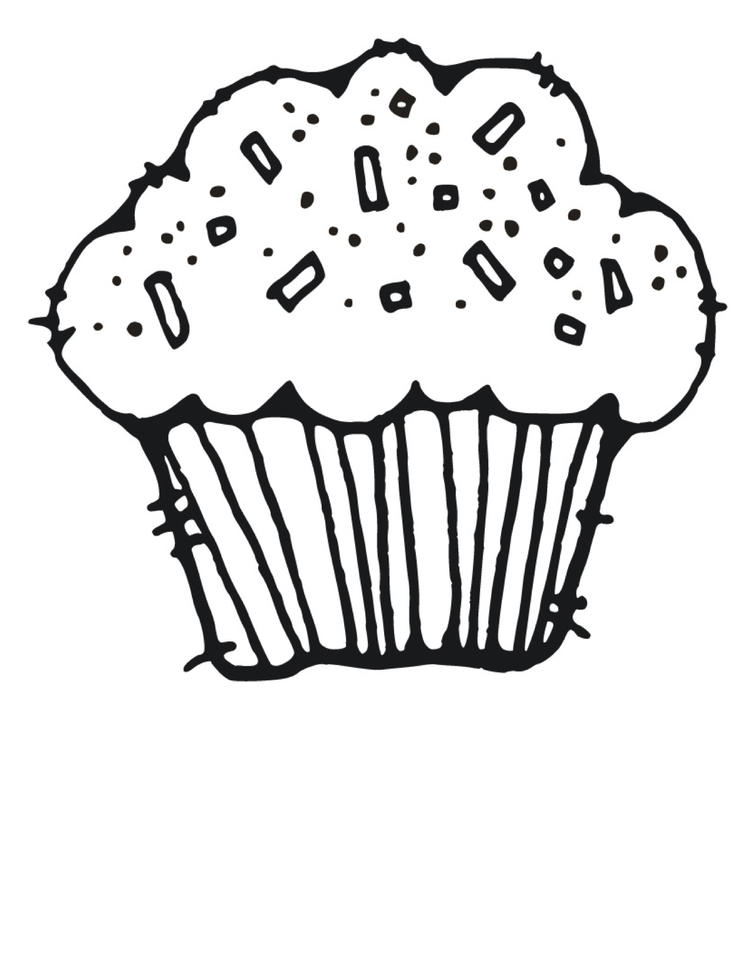 Free Printable Cupcake Coloring Pages For Kids 6