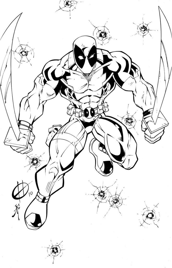 Free Printable Deadpool Coloring Pages For Kids 1