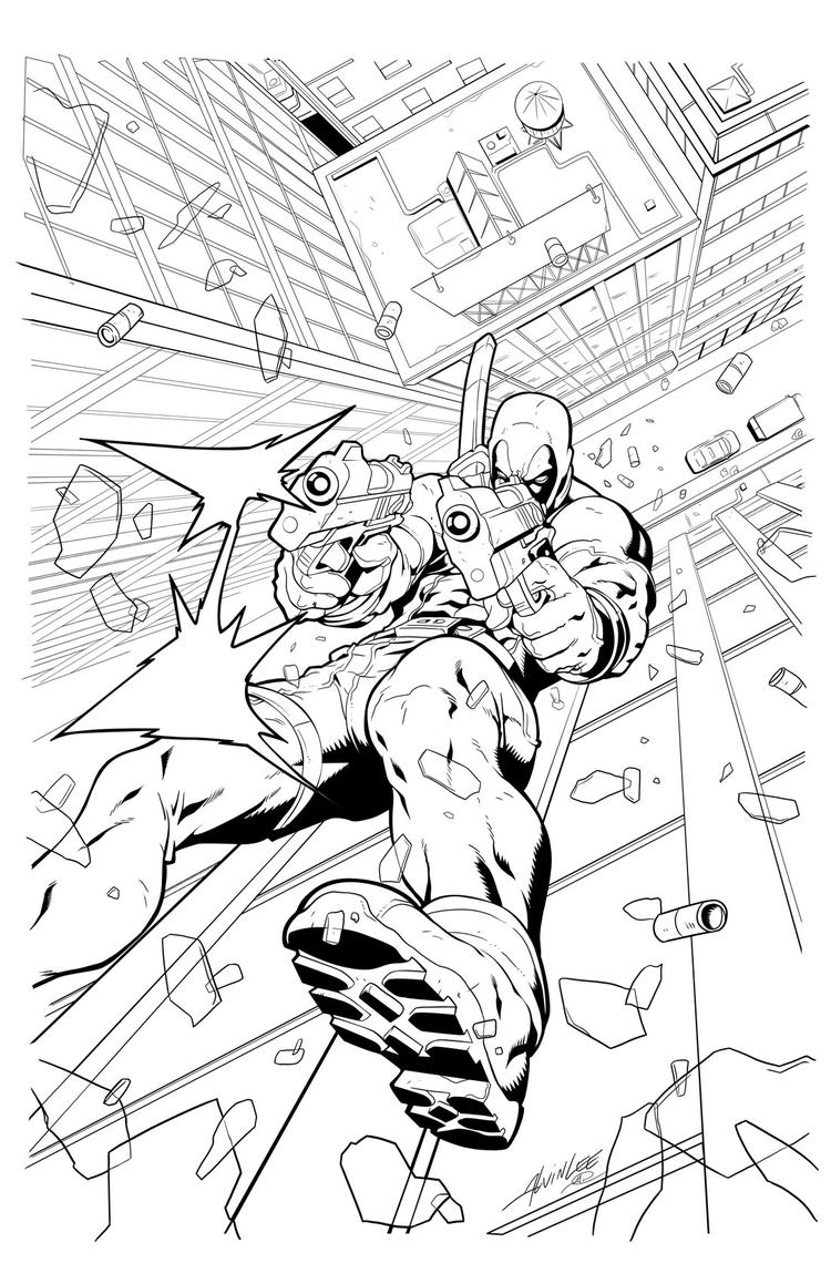 Free Printable Deadpool Coloring Pages For Kids 2