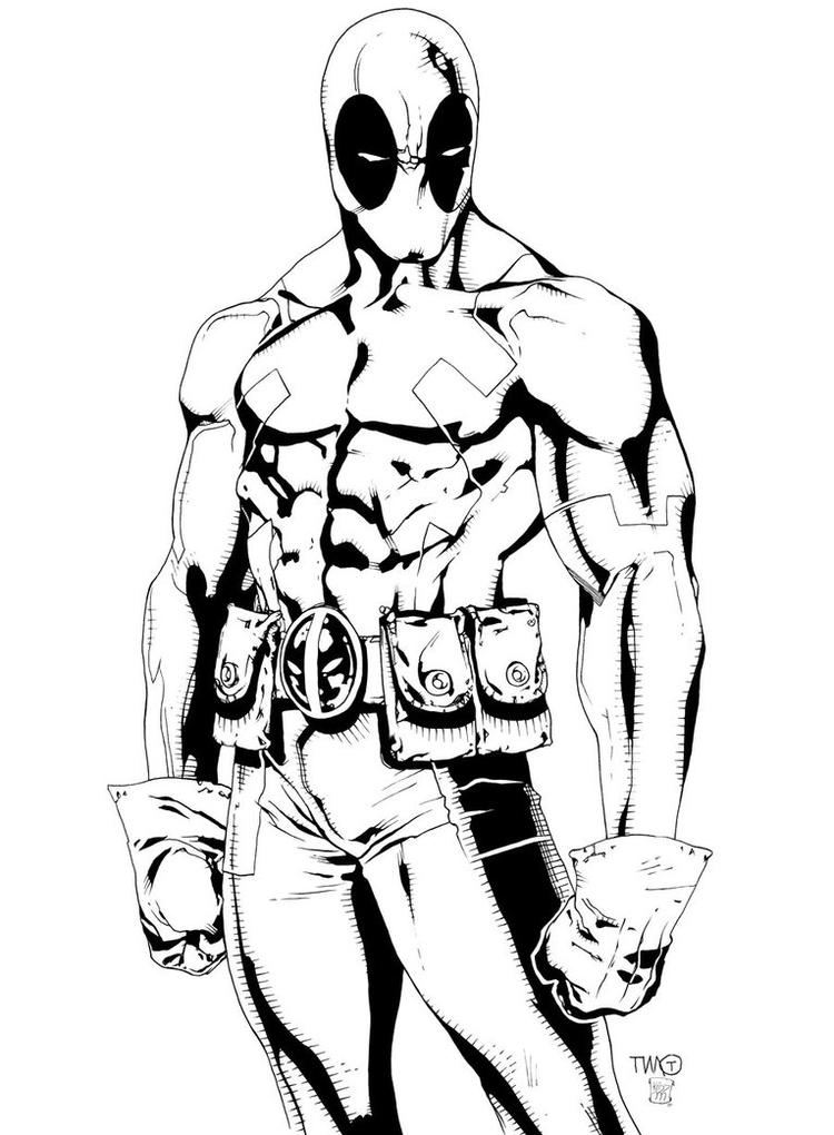 Free Printable Deadpool Coloring Pages For Kids 4