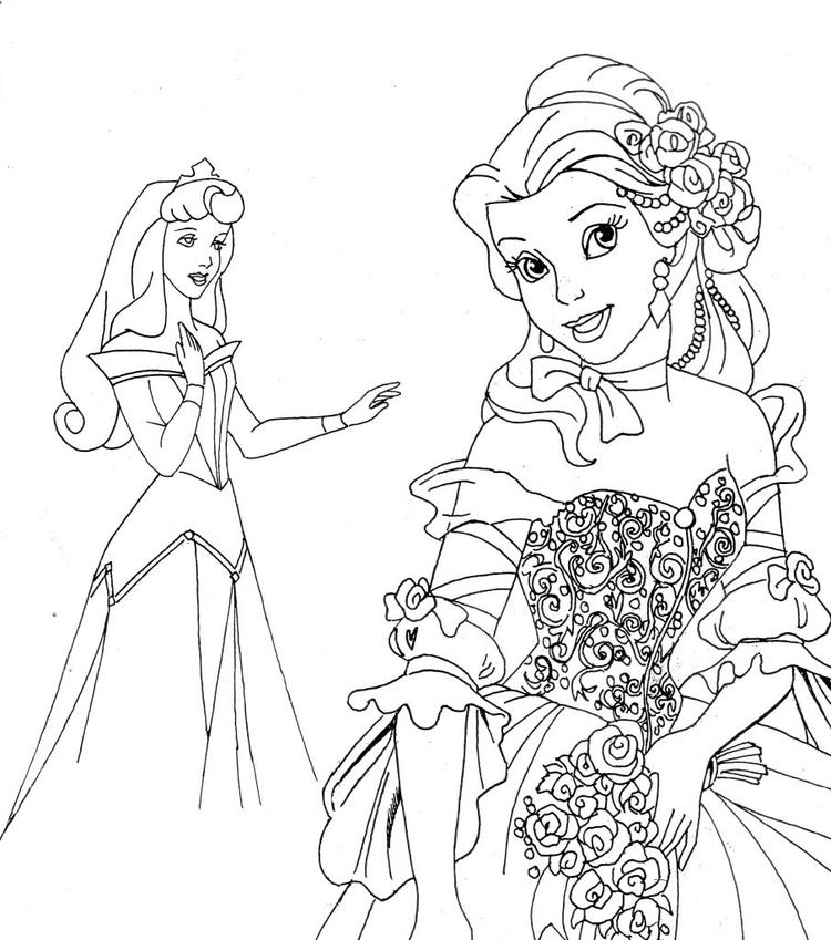 Free Printable Disney Princess Coloring Pages For Kids 12