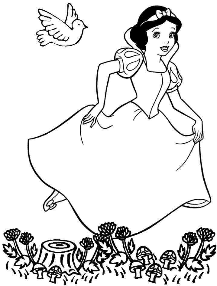 Free Printable Disney Princess Snow White Coloring Pages For Toddler