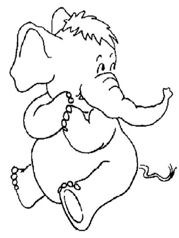 Free Printable Elephant Coloring Pages For Kids 1