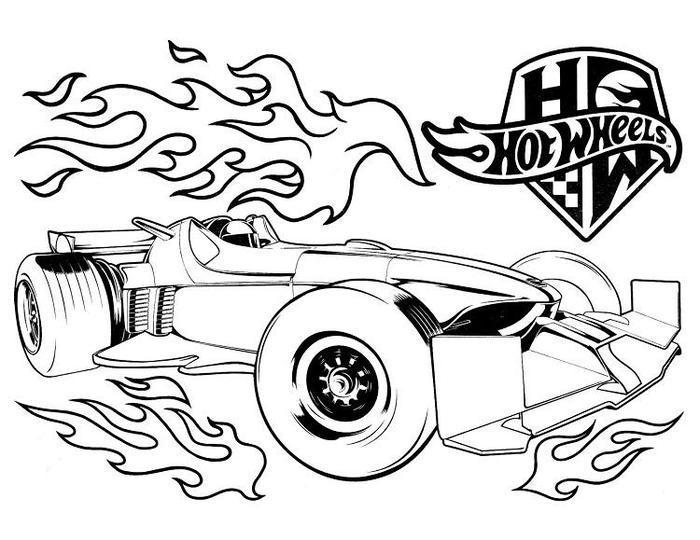Free Printable Hot Wheels Coloring Pages