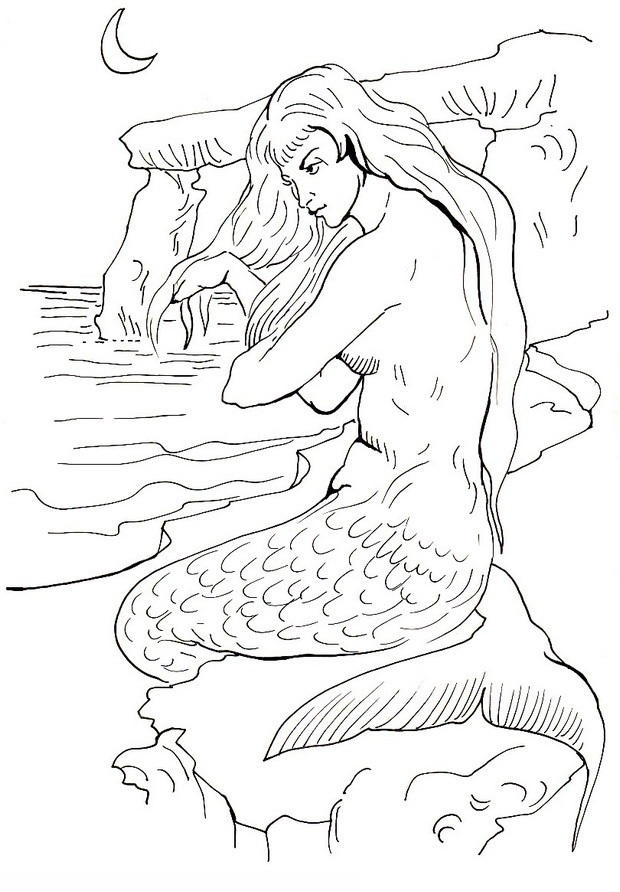 Free Printable Mermaid Coloring Pages For Kids 3