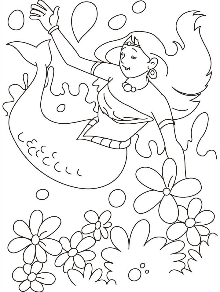 Free Printable Mermaid Coloring Pages For Kids 4