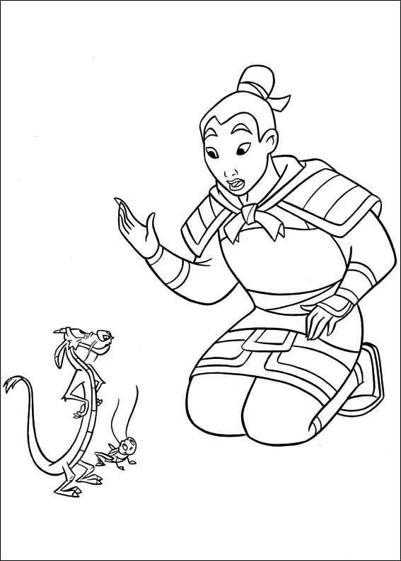 Free Printable Mulan Coloring Pages For Kids 1