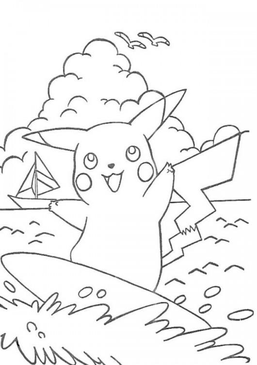Free Printable Pikachu Coloring Pages For Kids 1