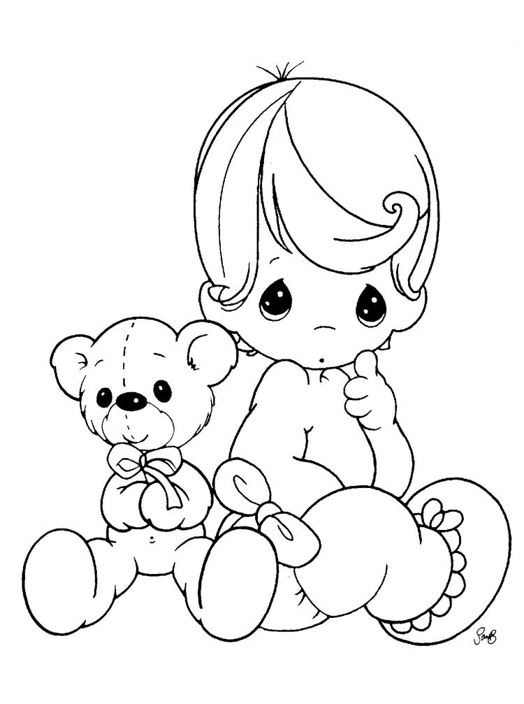 Free Printable Precious Moments Coloring Pages For Kids 1