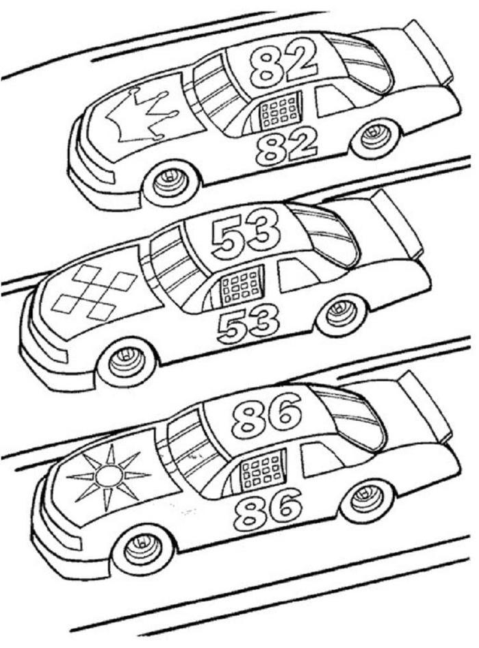Free Printable Race Cars Coloring Pages