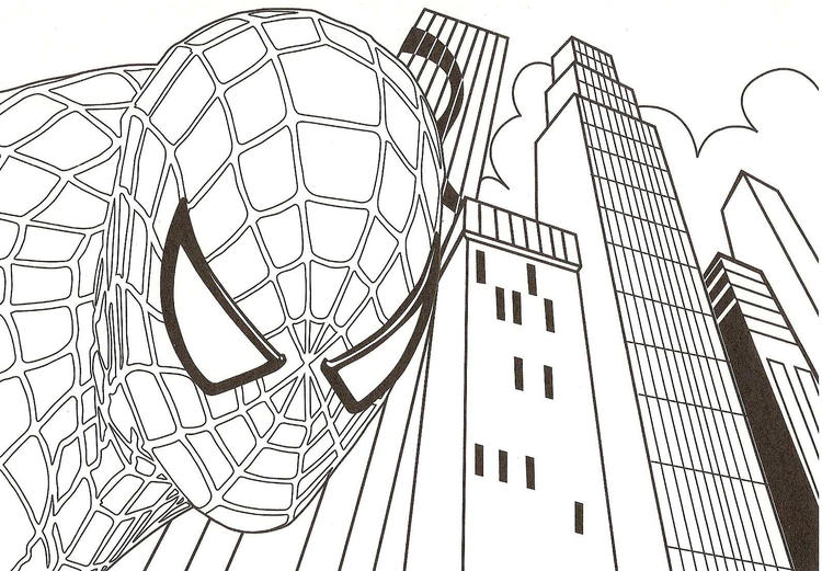 Free Printable Spiderman Coloring Pages For Kids 2