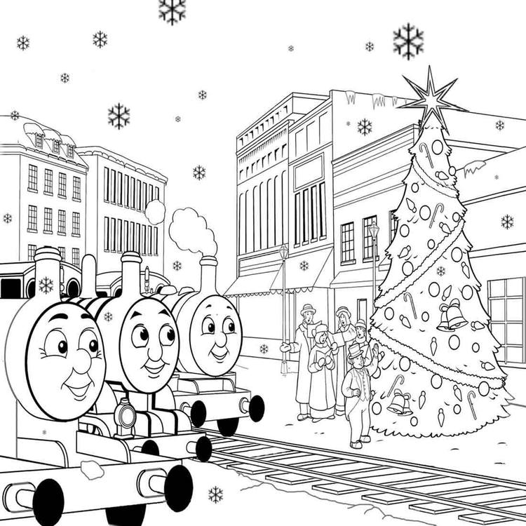 Free Printable Thomas The Train Coloring Pages For Kids Christmas