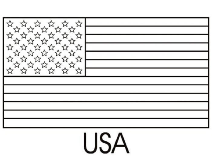 Free Printable Us Flag Coloring Pages