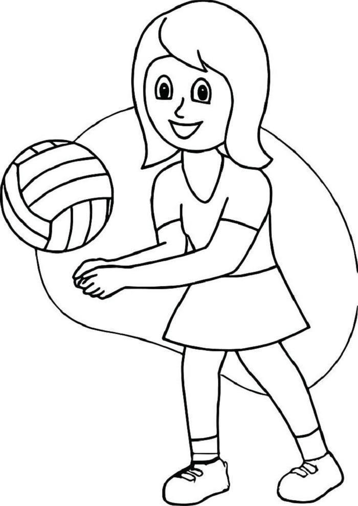 image regarding Volleyball Printable identify Totally free Printable Volleyball Coloring Webpages - Coloring Recommendations