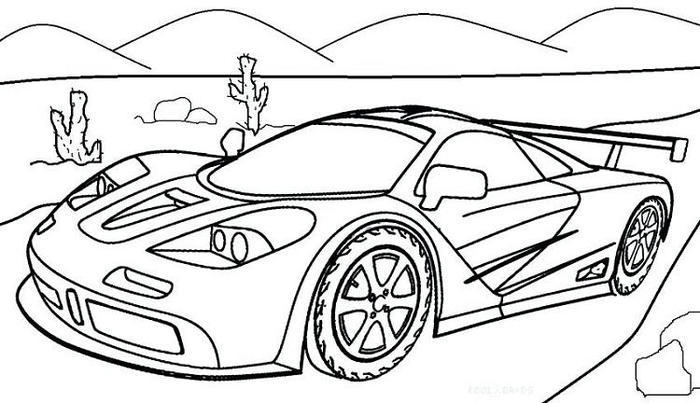 Free Race Cars Coloring Pages
