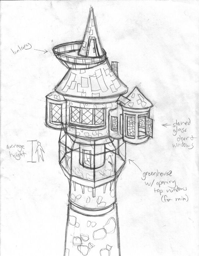 Free Rapunzel Tower Coloring Pages