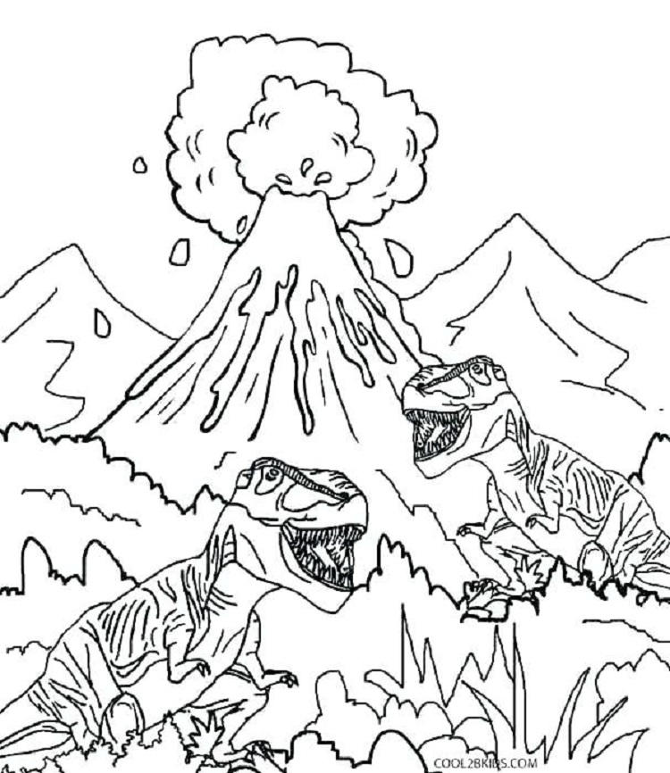 Free Realistic Dinosaur Coloring Pages