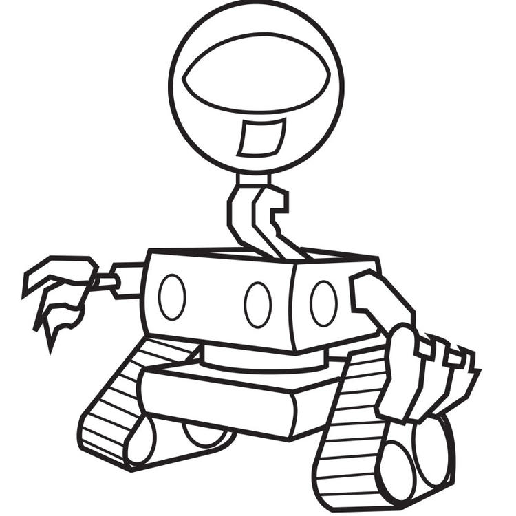 Free Robot Coloring Pages Printable