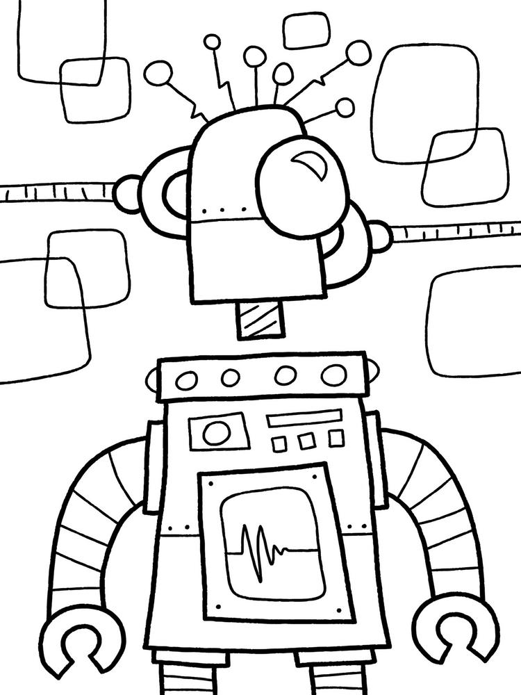 Free Robot Coloring Pages To Print