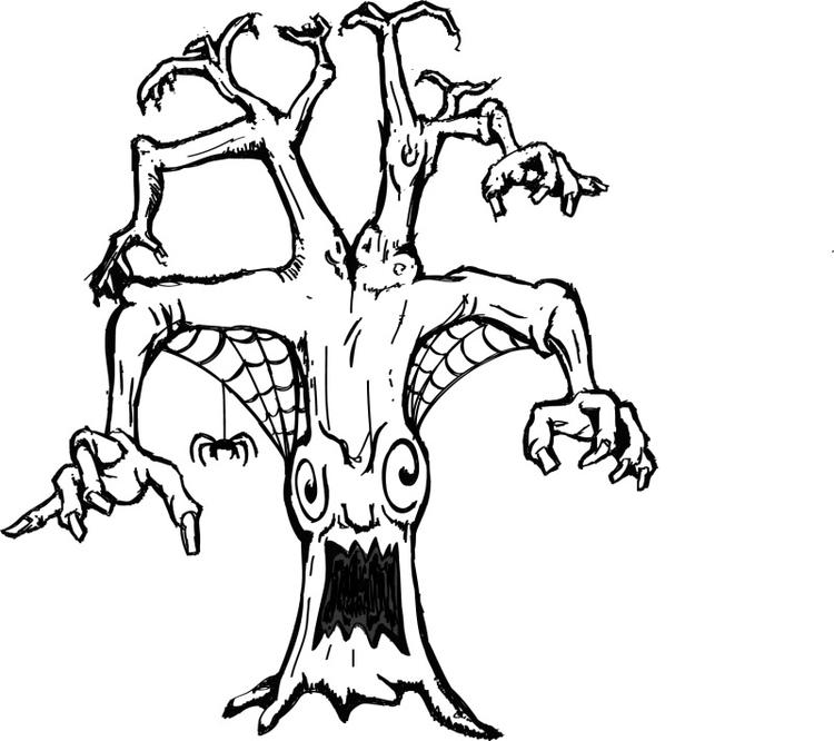 Free Scary Coloring Pages For Kids