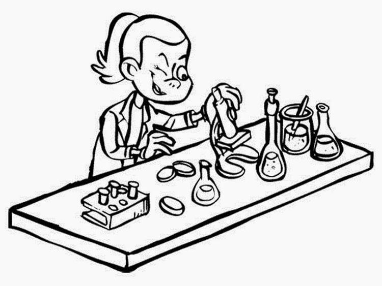 Free Science Coloring Pages