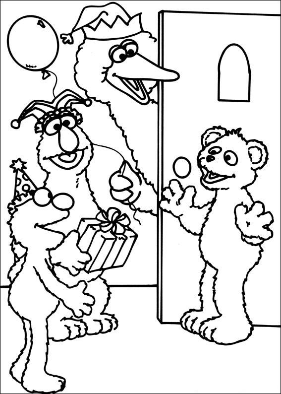 Free Sesame Street Coloring Pages For Kids