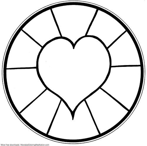 Free Simple Mandala Coloring Pages For Kids