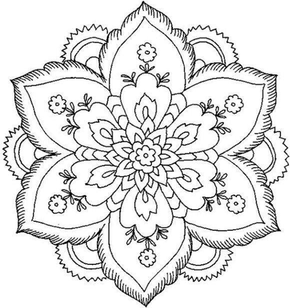 Free Simple Mandala Coloring Pages Print Out