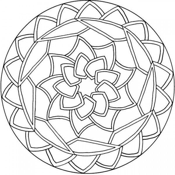 Free Simple Mandala Coloring Pages Printable