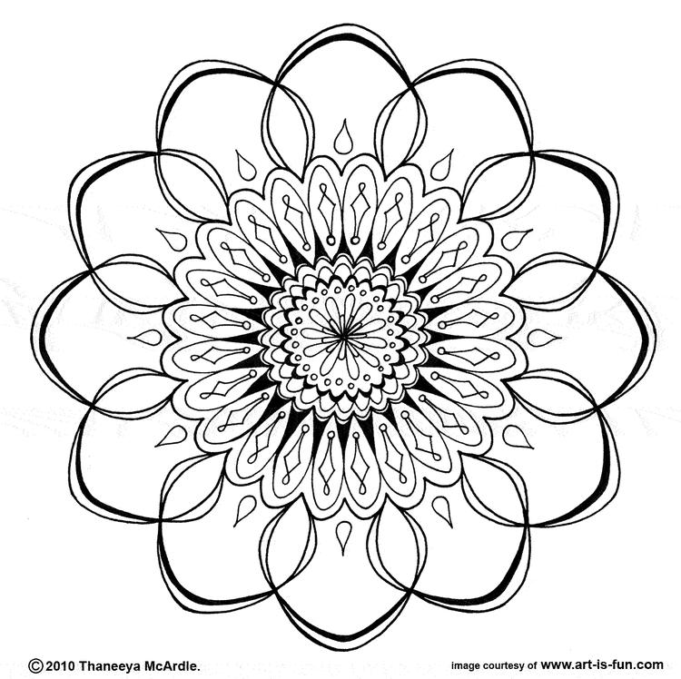 Free Simple Mandala Coloring Pages