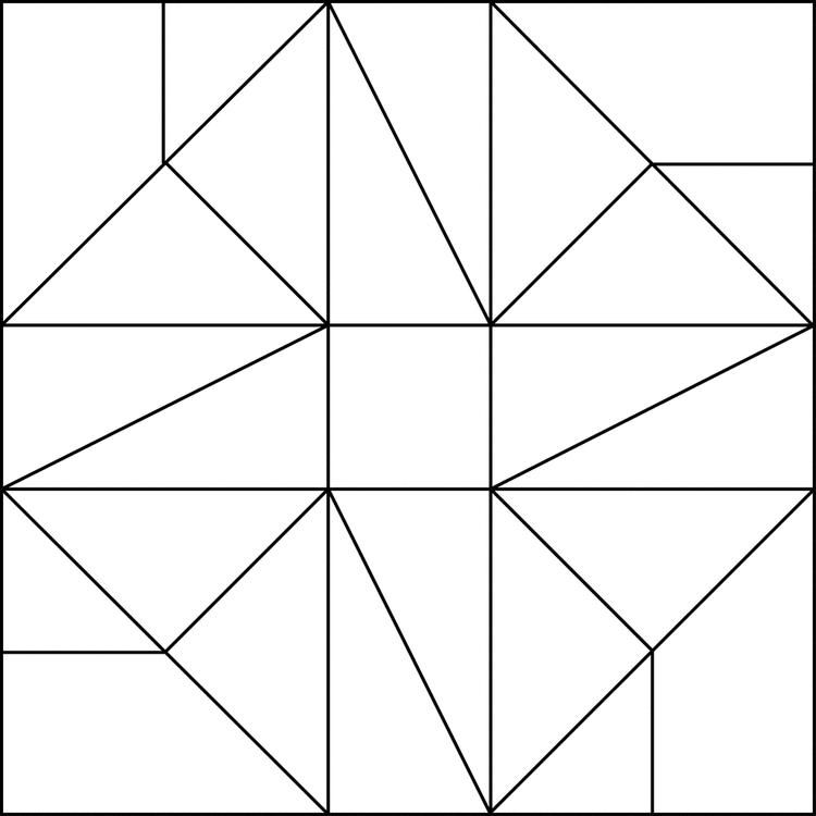 Free Simple Mosaic Coloring Pages 1