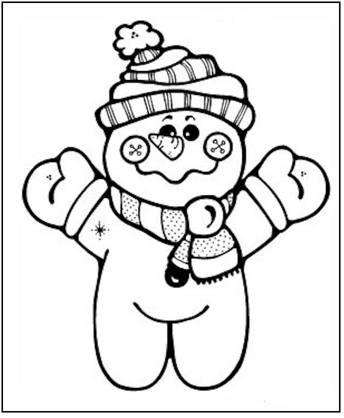 Free Snowman Coloring Pages For Kids