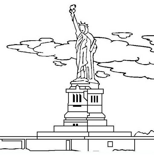 Free Statue Of Liberty Coloring Pages Printable