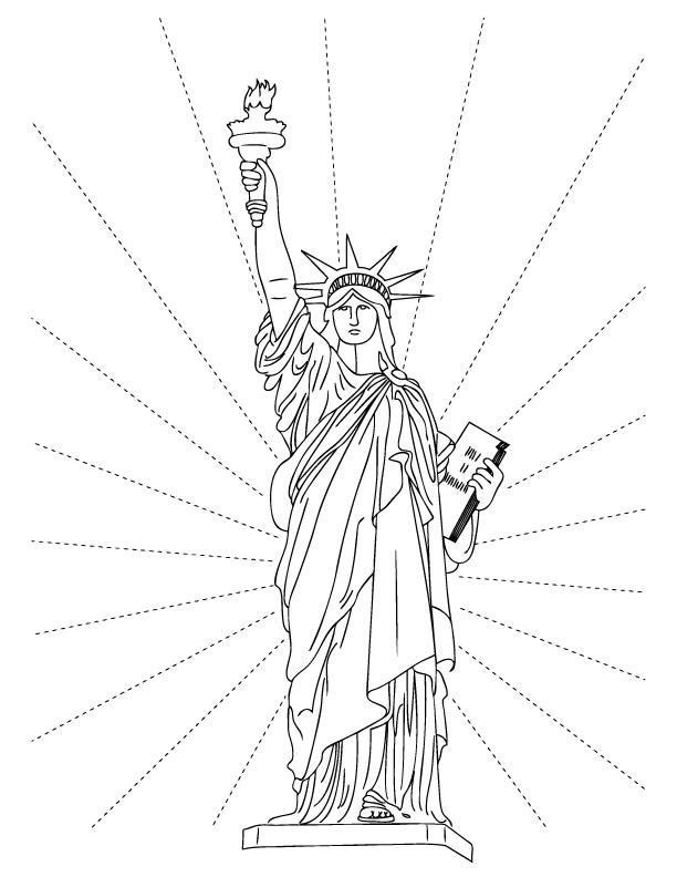Free Statue Of Liberty Coloring Pages To Print