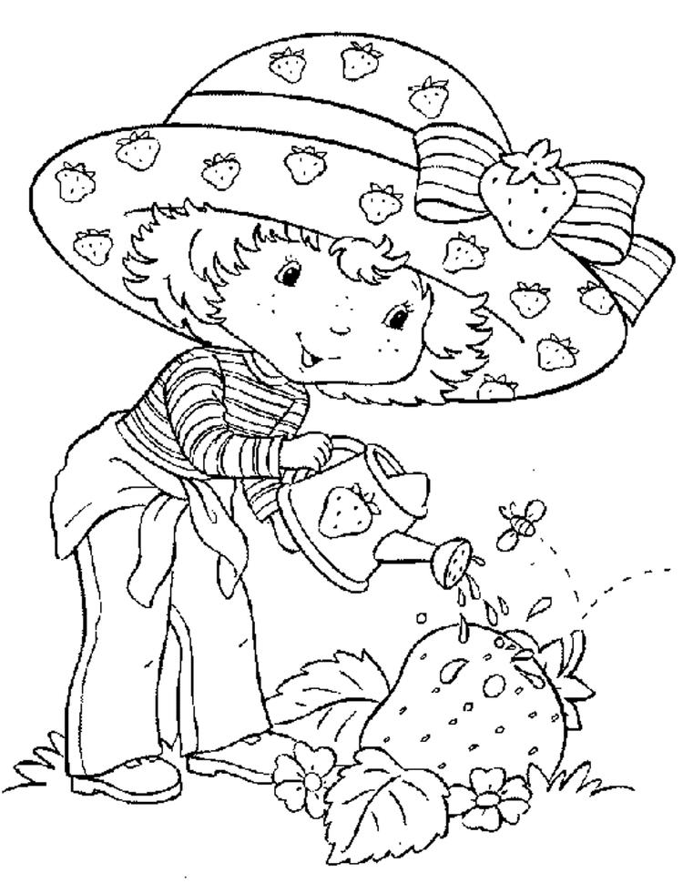 Free Strawberry Shortcake Coloring Page