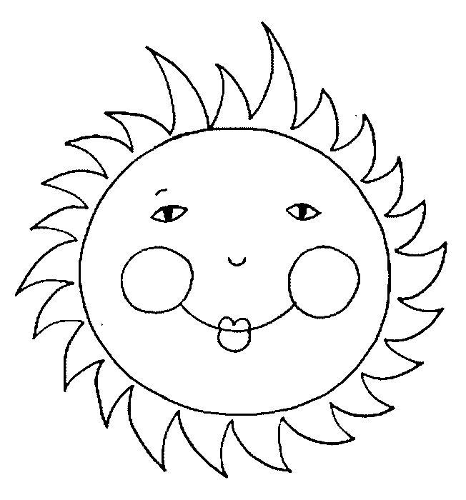 Free Sun Coloring Pages For Kids