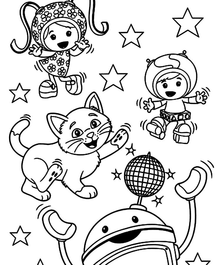 Free Team Umizoomi Coloring Pages Printable