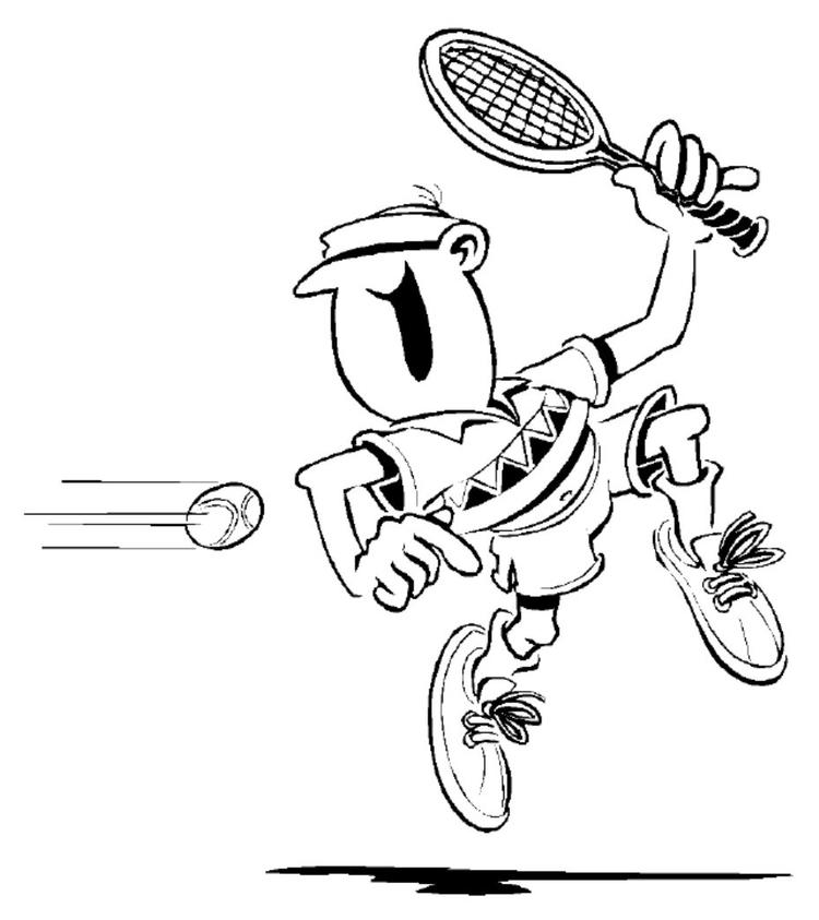 Free Tennis Coloring Pages