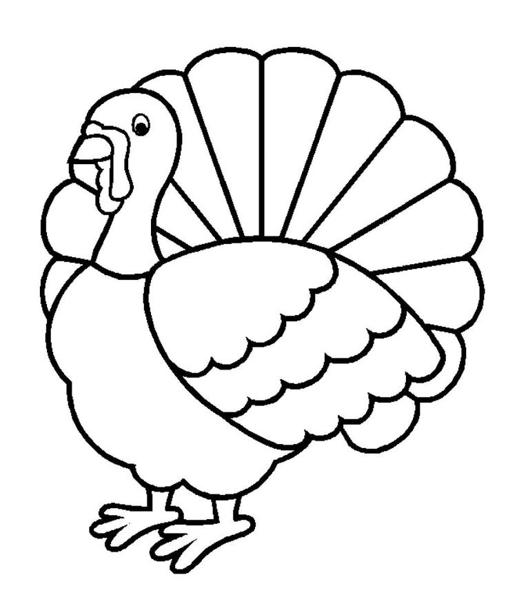 Free Thanksgiving Coloring Pages Turkey