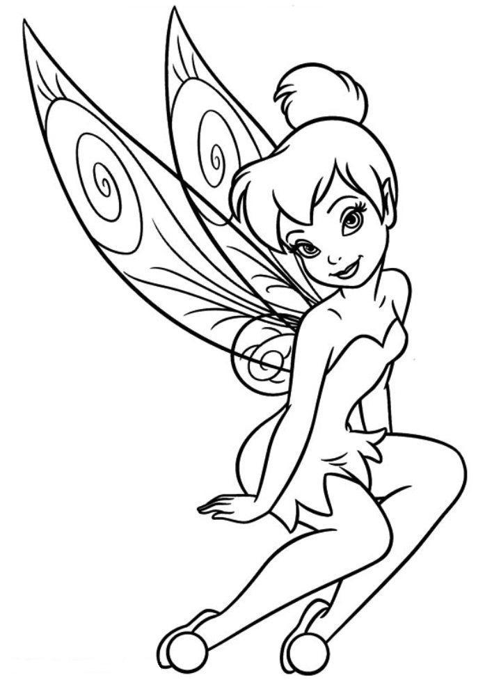Free Tinkerbell Coloring Pages Girls