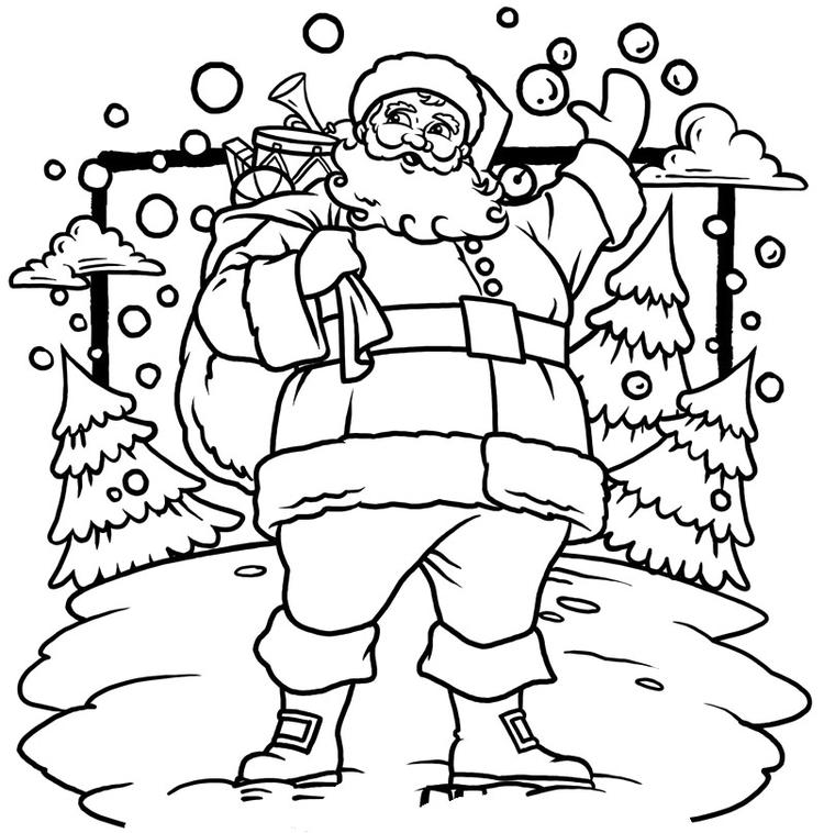 Free Toddler Christmas Coloring Pages